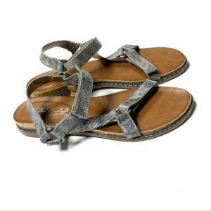 Boutique Corkys 9 39 Metallic Pewter Sandals